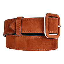 Buy Karen Millen Suede Skinny Belt, Tan Online at johnlewis.com