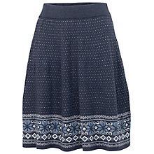 Buy Fat Face Fairisle Skirt, Navy Online at johnlewis.com