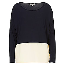 Buy Betty & Co. Colour Block Top, Dark Sapphire Online at johnlewis.com