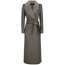 Buy Jaeger Wool Contrast Lapel Coat, Charcoal Online at johnlewis.com