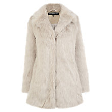 Buy Warehouse Femme Faux Fur Coat, Light Grey Online at johnlewis.com