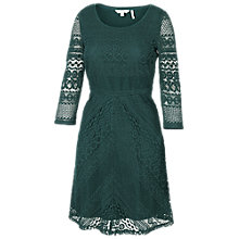 Buy Fat Face Lucy Chevron Lace Dress Online at johnlewis.com