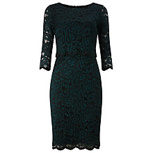 Buy Phase Eight Keke Lace Dress, Petrol Online at johnlewis.com