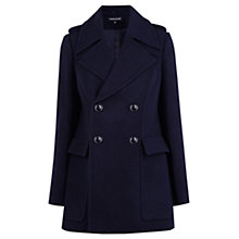 Buy Warehouse Pea Coat, Navy Online at johnlewis.com