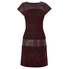 Buy Coast Loradi Lace Panel Dress, Merlot Online at johnlewis.com