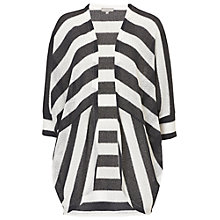 Buy Betty & Co. Stripe Batwing Cardigan, Black/Silver Online at johnlewis.com