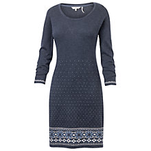 Buy Fat Face Tenby Farisle Knit Dress, Moleskin Online at johnlewis.com