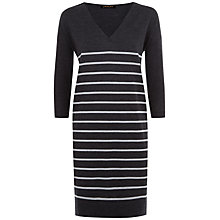 Buy Jaeger Wool Striped Dress Online at johnlewis.com