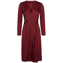Buy Jaeger Waterfall Dress, Bordeaux Online at johnlewis.com