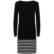 Buy Jaeger Striped Hem Wool Dress, Midnight Online at johnlewis.com