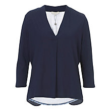 Buy Betty & Co. V-Neck Top, Dark Sapphire Online at johnlewis.com