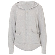 Buy Betty & Co. Knitted Hoodie, Light Silver Melange Online at johnlewis.com