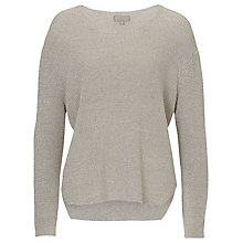 Buy Betty & Co. Linen Blend Jumper, Light Silver Melange Online at johnlewis.com