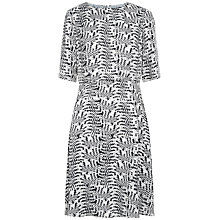 Buy Jaeger Square Print Dress, Black/Ivory Online at johnlewis.com