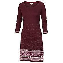 Buy Fat Face Fairisle Knit Dress, Plum Online at johnlewis.com