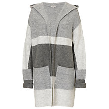 Buy Betty & Co. Long Hooded Cardigan, Silver/Grey Online at johnlewis.com