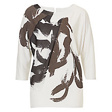 Buy Betty & Co. Graphic Print Top, Silver/Black Online at johnlewis.com