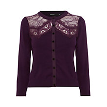 Buy Karen Millen Lace Trim Cardigan Online at johnlewis.com