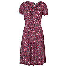Buy Fat Face Camille Antonia Print Dress, Rosewood Online at johnlewis.com