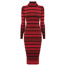 Buy Karen Millen Stretch Knit Stripe Dress, Red/Multi Online at johnlewis.com