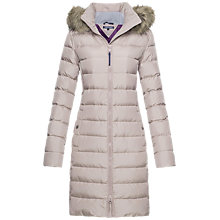 Buy Tommy Hilfiger Tyra Down Coat, Fawn Online at johnlewis.com