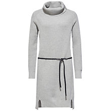 Buy Tommy Hilfiger Danika Ribbed Dress, Light Grey Heather Online at johnlewis.com