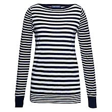 Buy Tommy Hilfiger Gala Stripe Jumper, Night Sky/Snow White Online at johnlewis.com