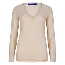 Buy Winser London Cashmere Deep V-Neck Jumper, Champagne Marl Online at johnlewis.com