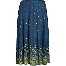 Buy Seasalt Hantergantick Midi Skirt, Grass Border Galley Online at johnlewis.com
