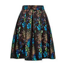 Buy Louche Joyous Metallic Pleated Skirt, Black/Blue Online at johnlewis.com