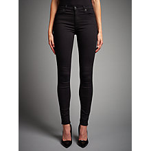 Buy 7 For All Mankind High-Waist Skinny Jeans, Phoenix Black Online at johnlewis.com