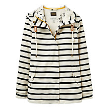 Buy Joules Right as Rain Coast Stripe Waterproof Jacket, Cream/Black Online at johnlewis.com