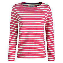 Buy Seasalt Sailor Jersey Top, Willowherb/Ecru Online at johnlewis.com