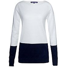 Buy Tommy Hilfiger Gala Colour Block Jumper, Snow White/Night Sky Online at johnlewis.com