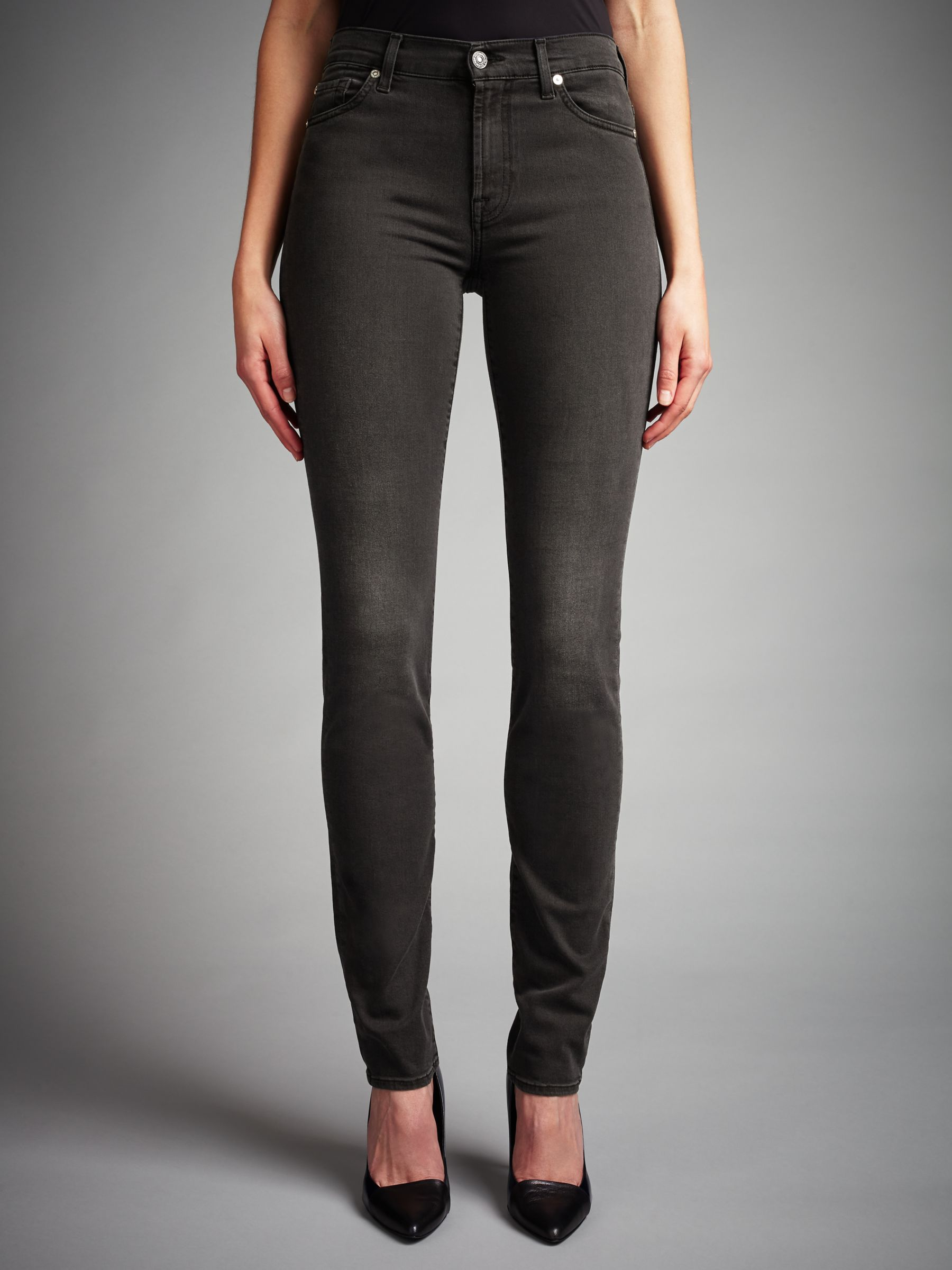7 For All Mankind 7 For All Mankind Rozie Slim Jeans, Portland Black