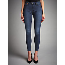Buy 7 For All Mankind High-Waist Skinny Jeans, Boston Blue Online at johnlewis.com