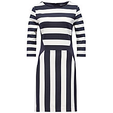 Buy Tommy Hilfiger Jilda Stripe Dress, Night Sky/Snow White Online at johnlewis.com