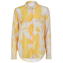 Buy Samsoe & Samsoe Molly Print Shirt, Thrill Yellow Online at johnlewis.com