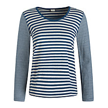 Buy Seasalt Ranie Point Reversible Jersey Top, Mull Galley Online at johnlewis.com