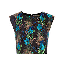 Buy Louche Jamais Boxy Crop Top, Black/Blue Online at johnlewis.com