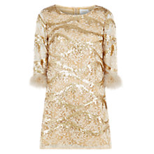 Buy Louche Yorba Luxe Sequin Dress, Gold Online at johnlewis.com