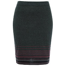 Buy Max Studio Knitted Skirt, Navy Online at johnlewis.com