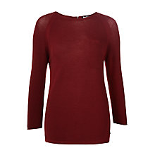 Buy Barbour International Fandor Textured Jumper, Cherry Online at johnlewis.com