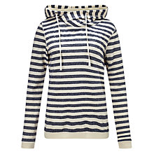 Buy Maison Scotch Home Alone Double Hoodie, Navy/Ecru Online at johnlewis.com