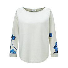 Buy Maison Scotch Neoprene Floral Print Sweatshirt, Cream Online at johnlewis.com