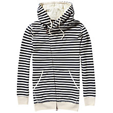 Buy Maison Scotch Home Alone Twisted Hoodie, Navy/Ecru Online at johnlewis.com