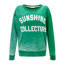 Buy Maison Scotch Artwork Sweatshirt, Green Online at johnlewis.com
