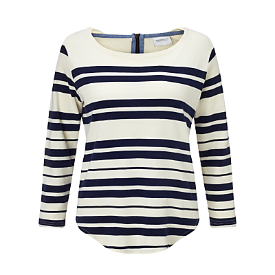Maison Scotch Breton Stripe Top, Navy/Ecru