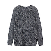 Buy Toast Marl Jumper, Navy Online at johnlewis.com