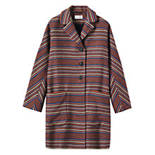 Buy Toast Kimono Stripe Coat, Burnt Sienna Online at johnlewis.com